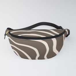 Topographic Map / Brown & Nude Fanny Pack