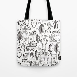 Woodland Animals Large Tote Bag