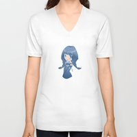 selena V-neck T-shirts featuring Selena by ScytheMeHappy
