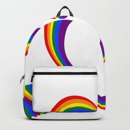 Colorful Rainbow Heart with Arrow LGBT Gay Pride Support Backpack
