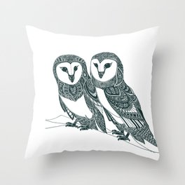 Strigidae Love Throw Pillow