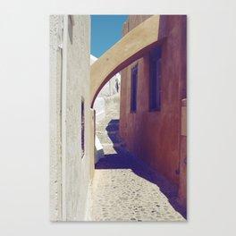 Santorini Walkway III Canvas Print