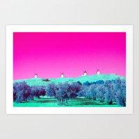La Mancha in technicolor Art Print