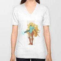 samus V-neck T-shirts featuring Samus by Tim Kaminski
