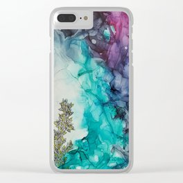 Remembering_ abstract painting , alcohol ink painting Clear iPhone Case