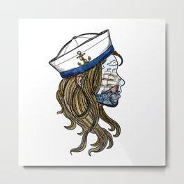 sailor girl Metal Print