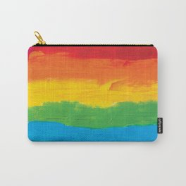 Rainbow Brushstrokes Carry-All Pouch