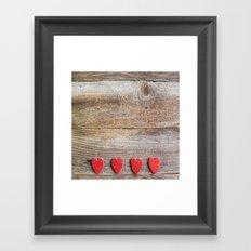 Heart on fire Framed Art Print