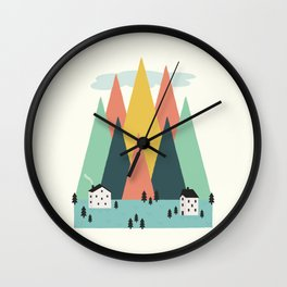 The High Mountains Wall Clock