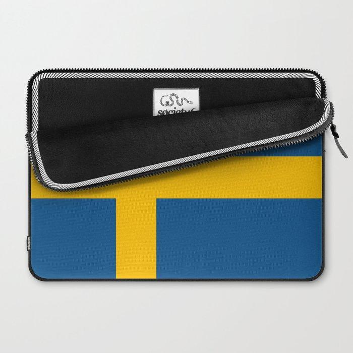flag of sweden Laptop Sleeve