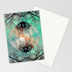 autumn tree - vessel pattern 2 Stationery Cards