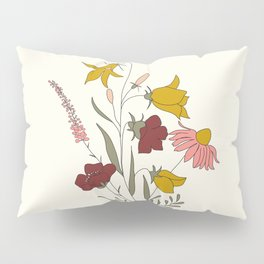 Wildflowers Bouquet Pillow Sham