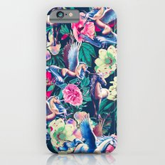 Unicorn and Floral Pattern Slim Case iPhone 6s