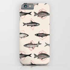 Fishes In Geometrics (Red) iPhone 6s Slim Case