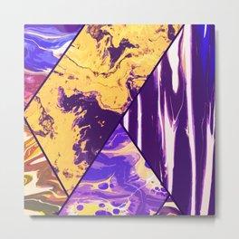 Mixed Marble Stone - Visual Decorative Graphic Design V.4 Metal Print