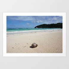 The Coconut Nut is a Giant Nut - beach view Art Print