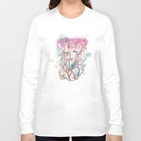 clover Long Sleeve T-shirts featuring Floral clover by /CAM