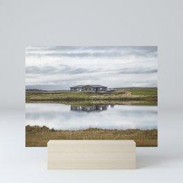Reflection of Iceland. || Travel Shots. || Symmetry. || Blues Sky. || MadaraTravels Mini Art Print