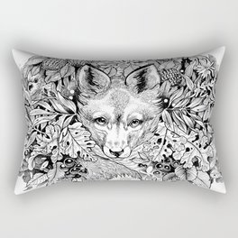 hidden fox Rectangular Pillow