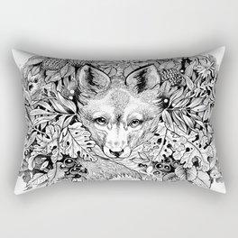 hidden fox Rectangular Pillow