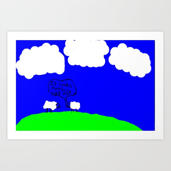 Watching the Clouds Go By Art Print
