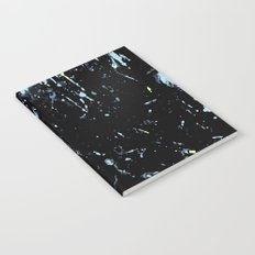 Decay Pattern, Black with Splash Notebook