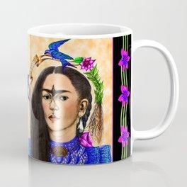 FRIDA KAHLO BLUE BIRD Coffee Mug
