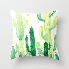 cactus and sun Throw Pillow