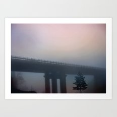 Misterious bridge Art Print