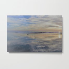 Beach with No Beginning  -   No End Metal Print