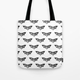 Linocut Moth black and white minimal insect animal lepidoptery moths art Tote Bag