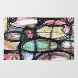 Abstract Ellipsis Rug