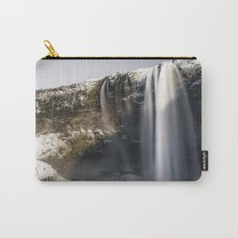 Waterfall with rainbow in Iceland Carry-All Pouch