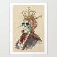 I LOVE THE KING Art Print
