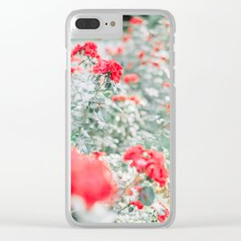 Red Background 05 Clear iPhone Case