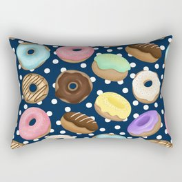 Donuts Love Pattern Rectangular Pillow