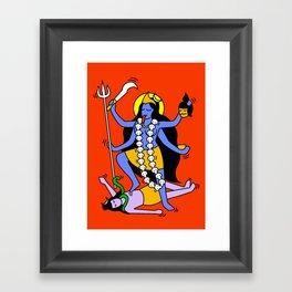 Kali Keith Haring style Framed Art Print