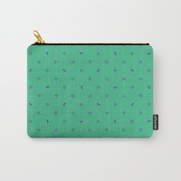 Punctuation Pattern Teal Carry-All Pouch