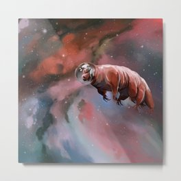 Water bear (tardigrade) in space Metal Print