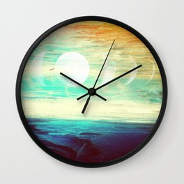Lunar Phase Beach Wall Clock