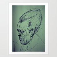camus Art Prints featuring Camus Torpedo by Kratcheroo