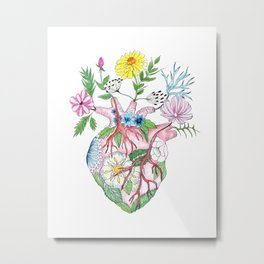 Blooming Heart Metal Print