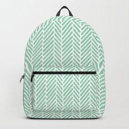 Herringbone Mint Inverse Backpack