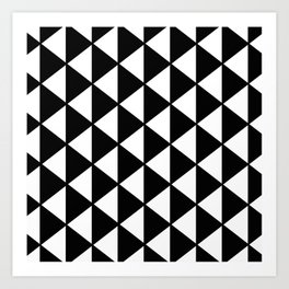 Black And White Triangles Pattern Art Print