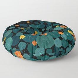 Nasturtium Garden Floor Pillow