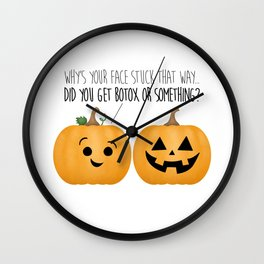 Pumpkin Botox Wall Clock