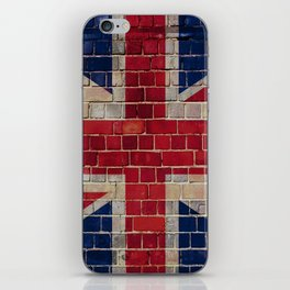 UK Union Flag on a brick wall iPhone Skin