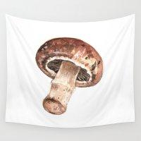 mushroom Wall Tapestries featuring Mushroom by Alicia Severson