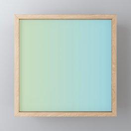 Turquoise Green Blue Gradient Framed Mini Art Print