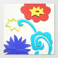 Garden Lightning Papercut Canvas Print